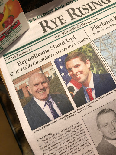Westchester Rising: Front Page ink on Slater's campaign