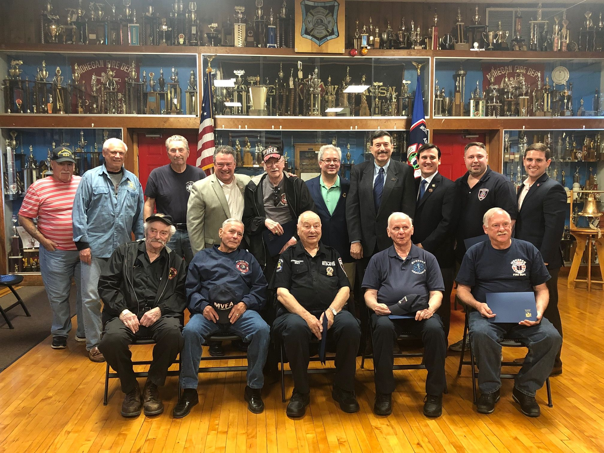 Please Stand: Military Service Members Of The Mohegan Lake Fire Department Honored