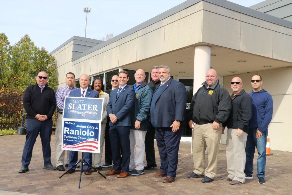 YORKTOWN, NY – The Affiliated Police Associations of Westchester (APA) endorsed Matt Slater, candidate for Yorktown Supervisor, and Yorktown Justice Gary Raniolo today citing their commitment to the law enforcement community.  The APA represents more than 50 law enforcement organizations in the county of Westchester and more than 5,000 law enforcement officers. Keith Olson, President […]